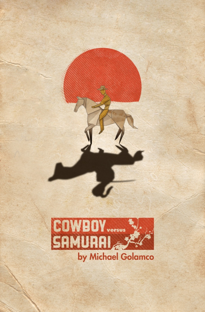 Cowboy Versus Samurai poster art by Braden Yamamoto